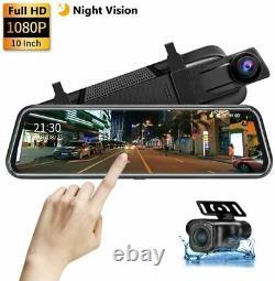 10 Car Dash Cam Car Camera Car Video Recorder DVR Dual Lens Front Rear FHD Touch