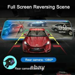 10 HD 1080P Dual Lens Car DVR Dash Cam Video Camera Recorder Rearview Mirror