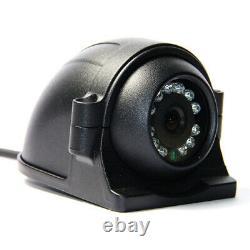 1080P 4CH GPS 4G AHD 512GB SD Car DVR MDVR Video Record 7 LCD Rear View Camera