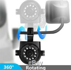1080P 4CH Truck Van Bus DVR Video Recorder + 7 Monitor + 4x Night Vision Camera