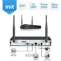 1080P 8CH Wireless Home Security Camera System with Audio Recording 2TB HDD NVR