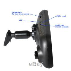 1080P Full HD Car Camera DVR Recorder GPS Rearview Mirror 4-way Night Vision