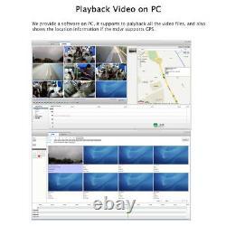 1080P HD AHD 4CH GPS 2.0MP 2TB HDD Car DVR Video Recorder + IR Rear View Camera