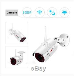 1080P Security Camera System Outdoor Wireless 8CH NVR with 1TB HDD Recorder CCTV