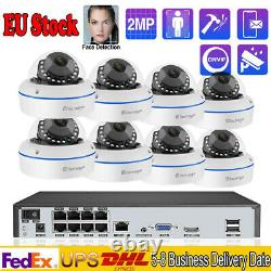 1080P Vandproof IP 66 Audio Record Security Camera+8CH 48V POE NVR System Lot