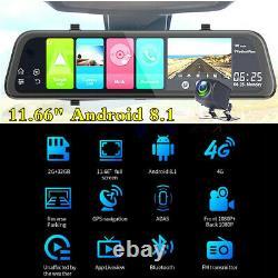 11.66 Car Rearview Mirror Video Recorder Dash Cam DVR ADAS Night Vision+Camera