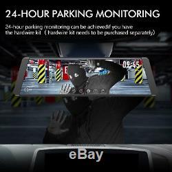 1296P HD 9.88 Dual Lens Car DVR Rearview Mirror Dash Cam Camera Video Recorder