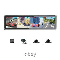 12IN Dash Cam HD 4G Android 9.0 Car ADAS Camera Video Recorder Night Vision 360°