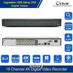 16CH 4K UHD 8MP H. 265+ DVR Digital Video Recorder For CVI/TVI/AHD/CVBS/IP Camera