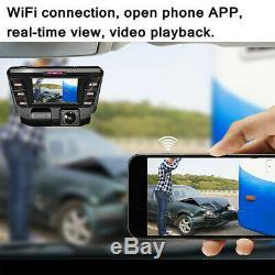 2.7 Hidden Night Vision Wifi Dual Lens HD 4K Car Dash Cam Recorder Parking Mode