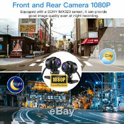 2.7 LCD Screen Front + Rear 1080P WiFi GPS Motorcycle Dash Cam Loop Recording