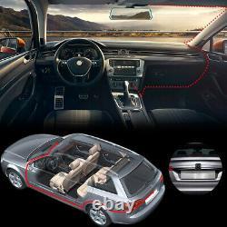 2K 12'' 1080P Dual Lens Car DVR Dash Cam Video Camera Recorder Rearview Mirror