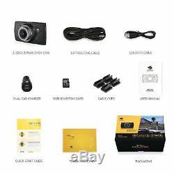 3 Dash Cam 1440P Car Dashboard DVR Camera Recorder G-Sensor Night Vision 32GB