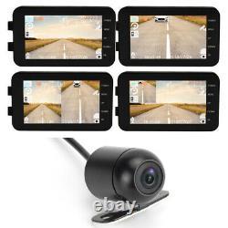 4'' 1080P HD Night Vision Dual Lens Camera Motorcycle Driving Recorder Dash Cam