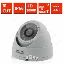 4 8 16ch Hd Cctv System 1080p Camera Kit White Grey Dome Home Security Recorder