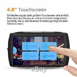 4 Car Dash Cam Dual 1080P HD Video Recorder Touch Screen Night Vision G-Sensor
