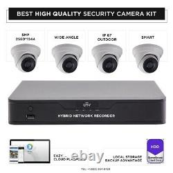 4 smart camera kit 5MP HD NVR recorder 1TB memory Best Security System