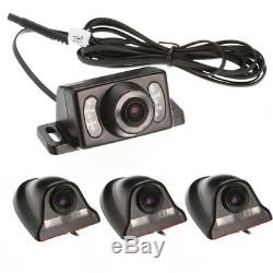 4CH 4G Wireless GPS Car DVR AHD SD Realtime Video Recorder+4Night Vision Camera