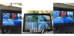 4CH 7 Car LCD Monitor + 4X Night Vision Camera Video Recorder For Truck Van Bus