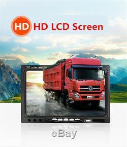 4CH AHD 720P 360° Car DVR Security Recorder SD+4CCD Night Vision Cam+4CH Monitor