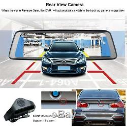 4CH Cameras lens 10Android Navi car camera rear view mirror dvr drive recorder