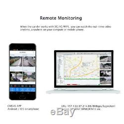 4CH GPS 3G 720P AHD SD Car DVR MDVR Video Recorder Night Vision Rear View Camera