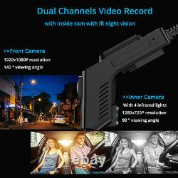 4G Dash Cam night vision Android wifi gps dual camera car dvr FHD 1080p recorder