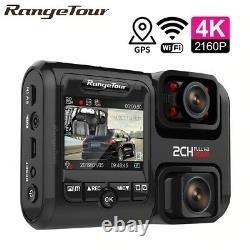 4K 1080P Dash Cam WIFI GPS Dual Camera Sensor Night Vision Video Recorder DVR