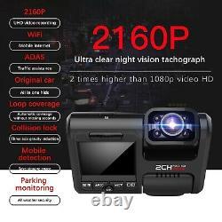 4K 2160P Full HD Dual Lens Dash Cam WiFi GPS Car DVR Video Recorder Night Vision