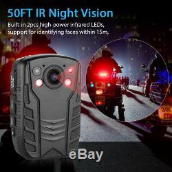 4K HD Police Body Worn Camera Infrared Video Audio Recorder Ambarella A7 2 LCD