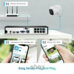 4K Security Camera System 8MP+8CH POE NVR Kit 7/24 Recording 2TB HDD 100ft Audio