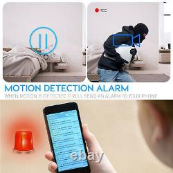 4K UHD Wireless Wi-Fi IR Night Vision Clock Video Camera Motion Detect Recorder