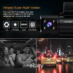 4K Ultra HD Front Recording 3 Channel Dash Cam withIR Night Vision GPS 4K video