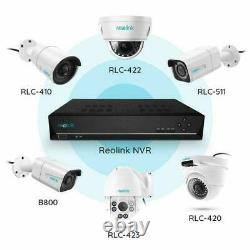4MP Security IP Camera System 8CH PoE NVR 724 Recording Kit Reolink RLK8-410B4