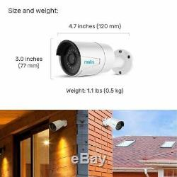 5MP PoE Security Camera System 16CH NVR Smart Home Kit with 3TB HDD 724 Recording