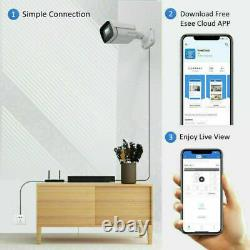 5MP PoE Security Camera System 8CH NVR 4pcs Wired Smart Home Kit 724 Recording