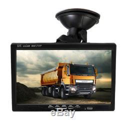 7 INCH Car Quad Split Monitor Screen Video Recording 4X Camera IR Night vision