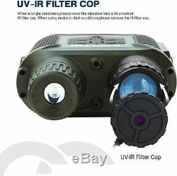 7X31 Night Vision Goggles Binoculars 400m/1300ft for Darkness Photo Video Record