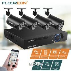 8CH 1080N AHD DVR 4x 1500TVL 720P IR-CUT Video Recorder Home Security Camera Kit