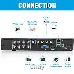 8CH 1080N AHD DVR Outdoor 3000TVL IR-CUT Video Recorder CCTV Security Camera Kit