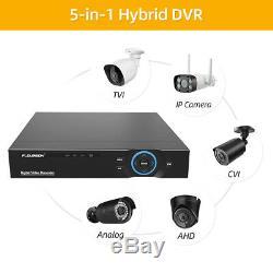 8CH CCTV DVR NVR Home Outdoor Security IP Camera System Digital Video Recorder