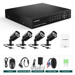 8CH Security Camera System HD 1080P 6-in-1 Video DVR Recorder 4X HD 1080P Camera