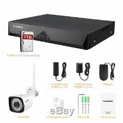 8CH Wireless CCTV NVR Recorder WIFI 1080P IP Camera Security Night Vision 1TB US