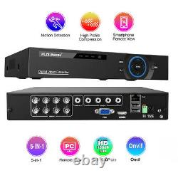 8Channel DVR 1080P HDMI 5-in-1 Hybrid DVR Recorder for home Security System Kit