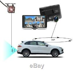 8GB, 4.5 Car DVR 1080P HD 360° Dash Cam Video Digital Recorder + Reverse Camera
