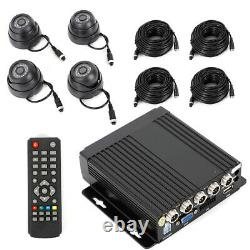 AHD Mobile Vehicle Car DVR Video Recorder+4PCS Night Vision Camera For Truck Bus