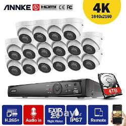 ANNKE 4K 16CH POE NVR 8MP Security Camera System Audio Recording IP Network IP67