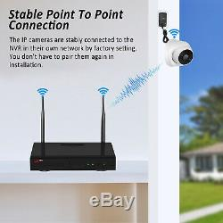 ANRAN 1080P 8CH Outdoor Wireless Security Camera System 1TB HDD NVR Audio Record