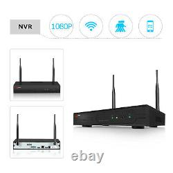ANRAN 1080P HD Security WIFI Camera System Wireless Outdoor 1TB HDD Video Record