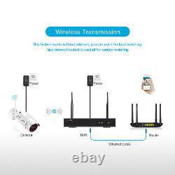 ANRAN CCTV WIFI Wireless Security Camera System 1080P HD 8CH NVR 1TB HDD Outdoor